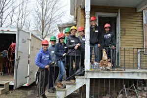 Williams students spent their March 2016 spring break volunteering in the Berkshires