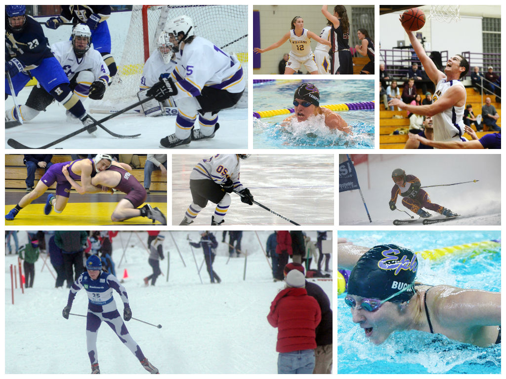 collage sports winter williams athletics giving excellence deeper priorities clearer skill friendships teamwork focus course deep building